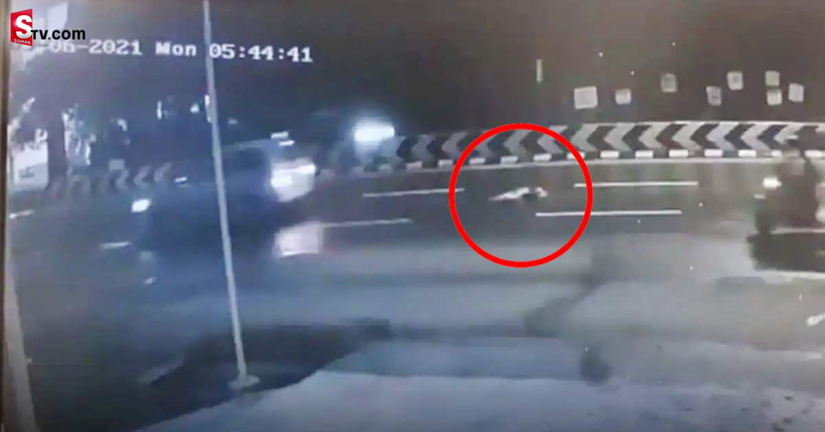 Half naked woman thrown from moving vehicle at Coimbatore - Suman TV