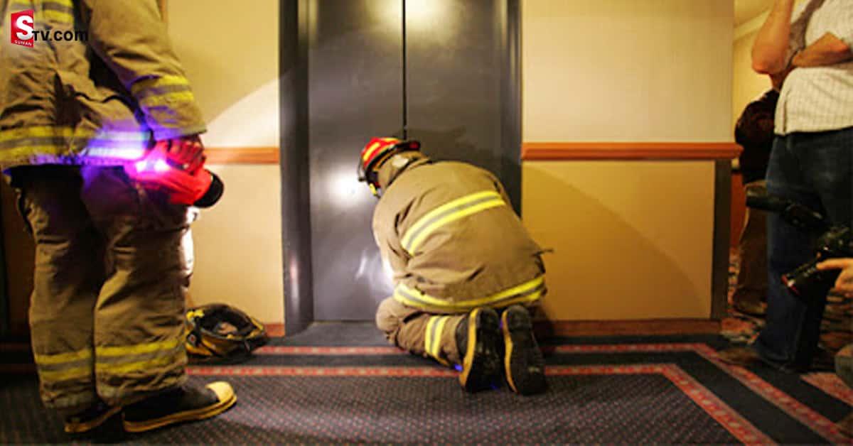 Human body in damaged elevator - Suman TV