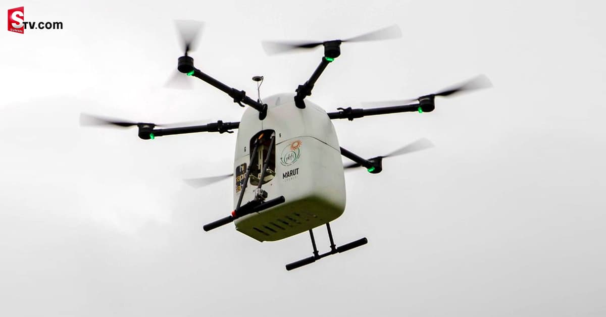Minister ktr checks latest medicine drone Launched - Suman TV