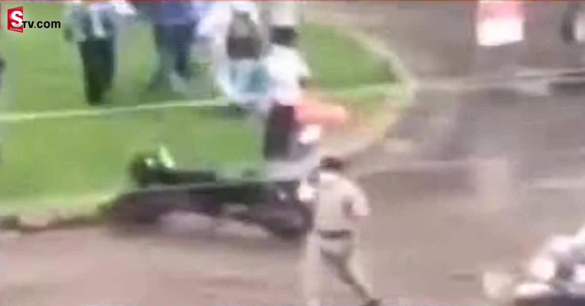 Police Chase Away Balayya Fans In Guntur -Suman TV